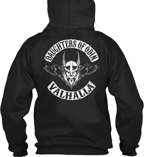 Daughters Of Odin Valhalla Black T-Shirt Back