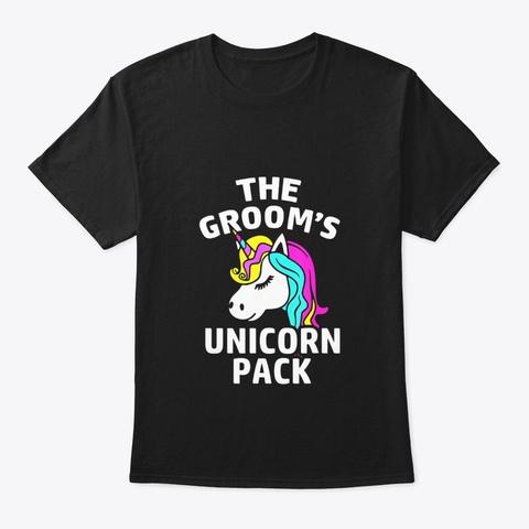 Lgbt Pride Gay Bachelor Party Unicorn Black T-Shirt Front