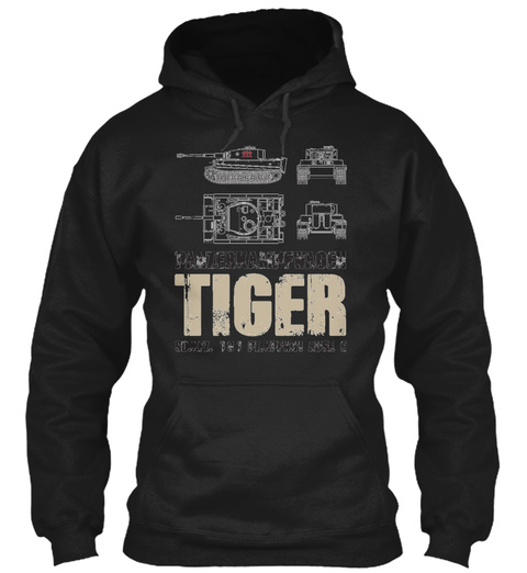 Tiger Tank Black T-Shirt Front