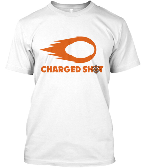 Charged Shot White T-Shirt Front
