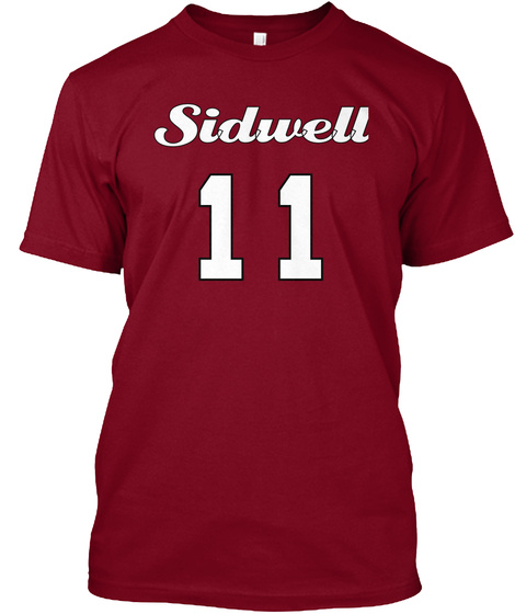 Sidwell 11 Cranberry T-Shirt Front