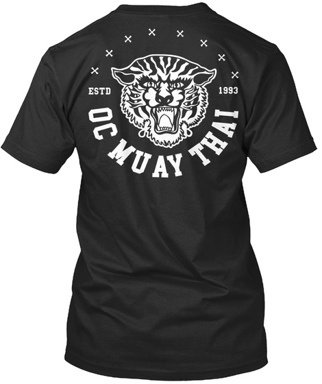 Tiger T Shirt By Oc Muay Thai Black T-Shirt Back