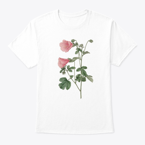 Botanical Retro Botanical  White T-Shirt Front