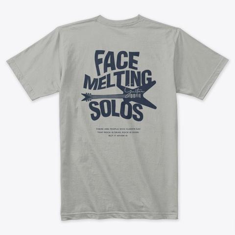 Shred Head Rock N Roll Guitar Light Grey T-Shirt Back