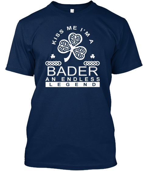 Kiss Me I'm A Barder An Endless Legend Navy T-Shirt Front
