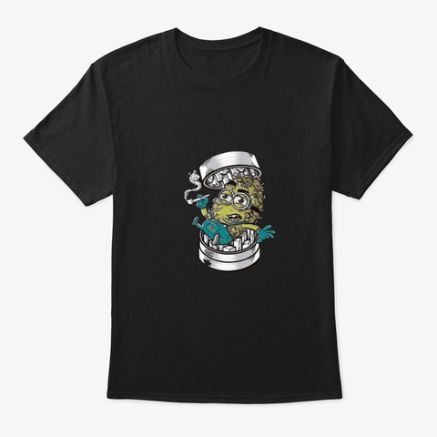 Weed Minnion Black T-Shirt Front