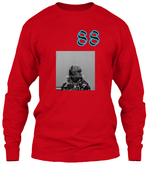 88 Red Long Sleeve T-Shirt Front