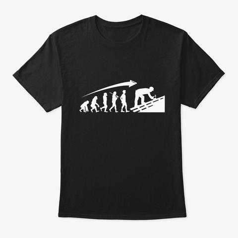 Roofer Craftsman Carpenter Evolution Black T-Shirt Front