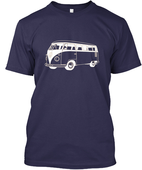 Micro Bus Navy T-Shirt Front