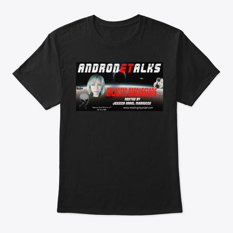 Andron E Talks Radio Apparel Black T-Shirt Front
