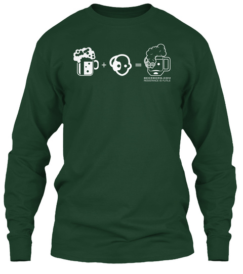 + = Forest Green T-Shirt Front