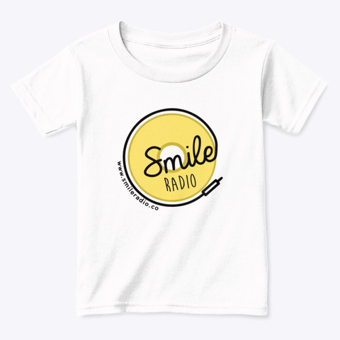 Smile Radio Merch White  T-Shirt Front