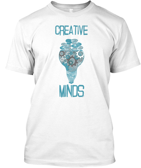 Creative Minds White T-Shirt Front