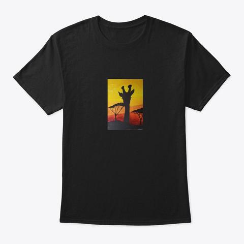 African Sunset Black T-Shirt Front