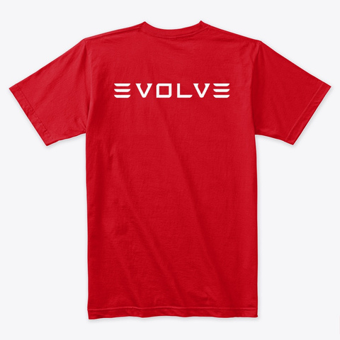 Model Y Evolve By Mad Hungarian (New!!) Red T-Shirt Back