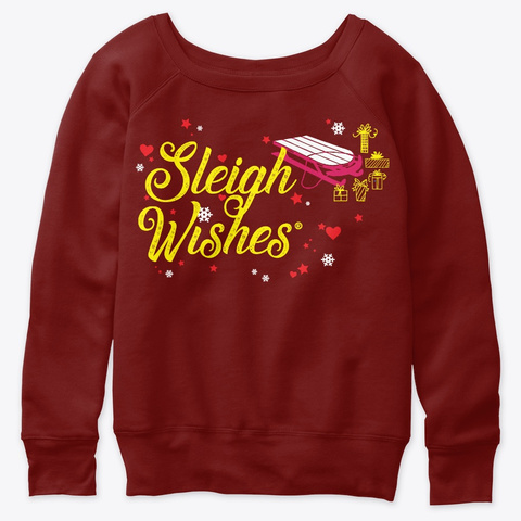 Wishing For Holiday Love Dark Red Triblend T-Shirt Front