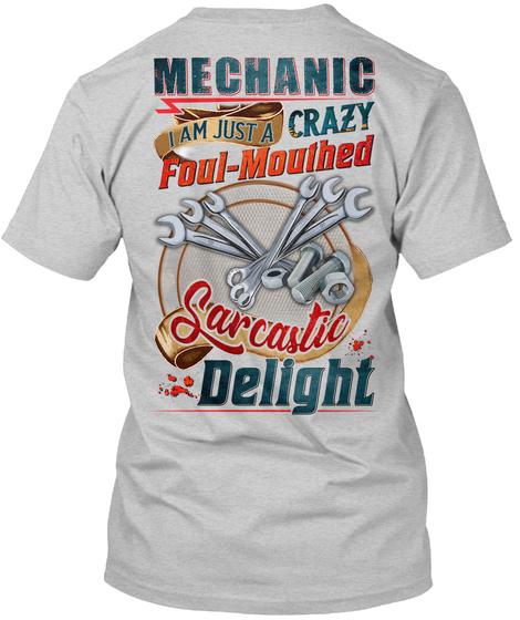 Awesome Mechanic Light Steel T-Shirt Back