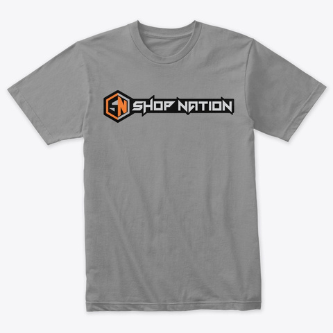 Shop Nation Full Logo Tee Premium Heather T-Shirt Front