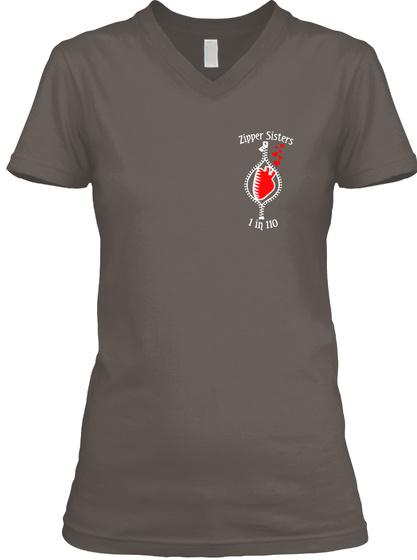 Zipper Sisters 1 In 110 Asphalt T-Shirt Front