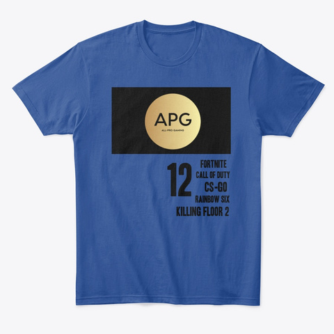 Nicholas Personal Deep Royal T-Shirt Front