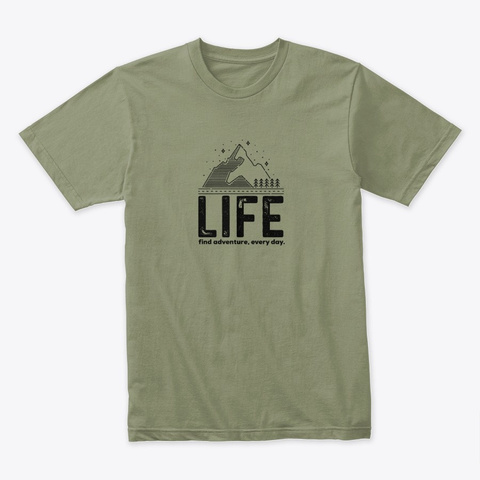 Find Adventure T Shirt Light Olive T-Shirt Front