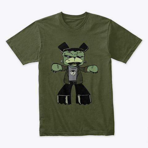 Franken Bear Military Green T-Shirt Front