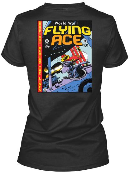 World War I Flying Ace Black Women's T-Shirt Back