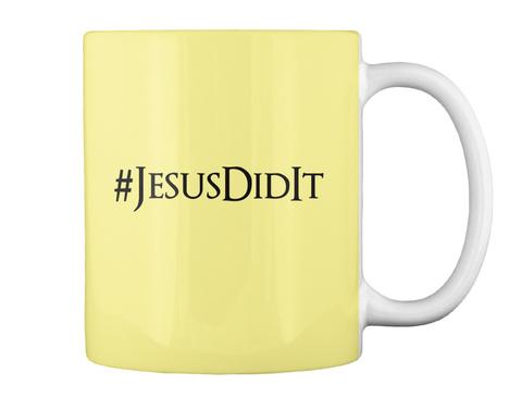 #Jesusdidit Butter Yellow Mug Back
