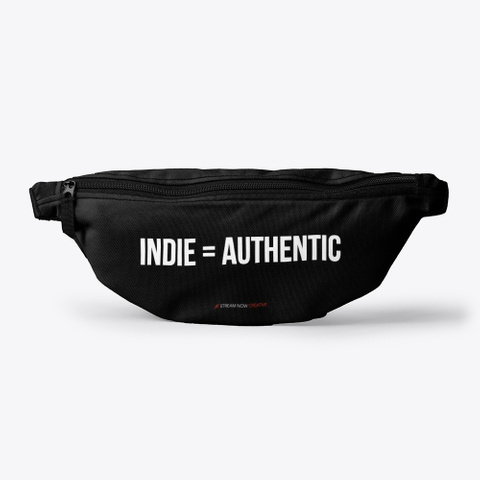 Stream Now Fanny Pack Black T-Shirt Front