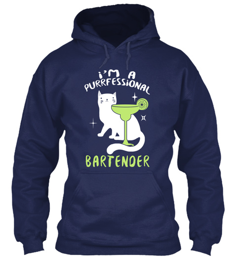 I'm A Professional Bartender Navy T-Shirt Front