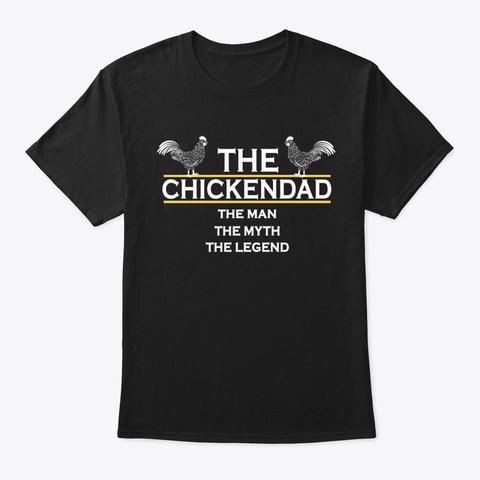 Chicken Dad Shirt, Chicken Dad Gifts Black T-Shirt Front