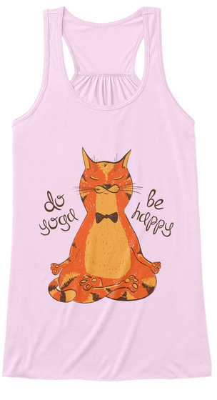 Do Yoga Be Happy Soft Pink T-Shirt Front