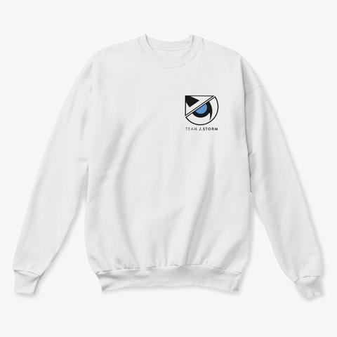 J.Storm Double Logo Sweatshirt White  Sweatshirt Front