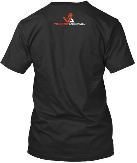 Visionary Basketball Black T-Shirt Back