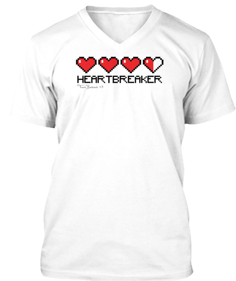 Heartbreaker White T-Shirt Front