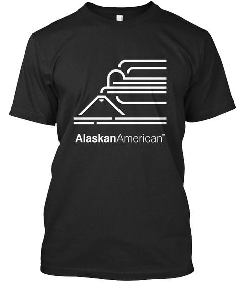 Alaskan American Black T-Shirt Front