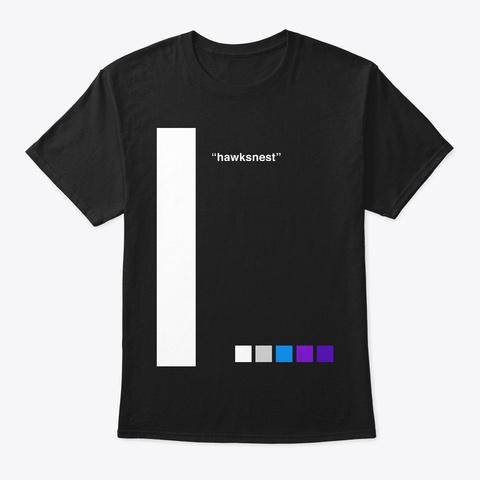 "Whiter Bar ""Hawksnest"" Black T-Shirt Front"