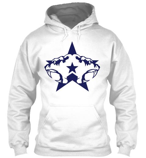 Tiger Double Club Logo Ferocious Animal White T-Shirt Front