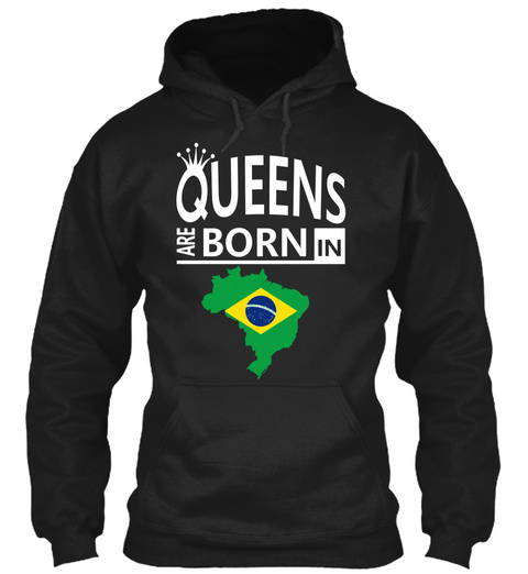Queens Are Born In Black T-Shirt Front