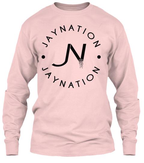 Jn Long Sleeve Tee Light Pink Light Pink T-Shirt Front
