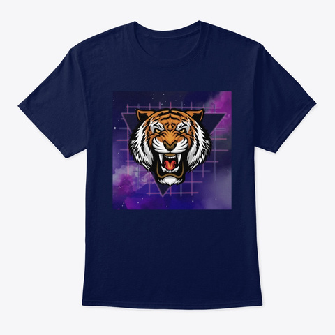 Tiger Galaxy Navy T-Shirt Front