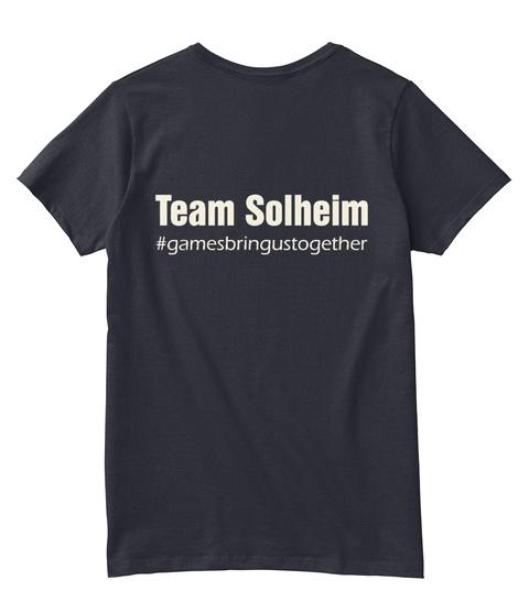 Team Solheim #Gamesbringustogether Navy T-Shirt Back
