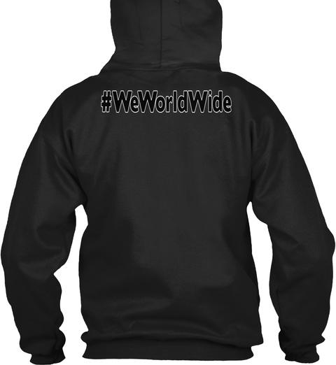 #Weworldwide Black Sweatshirt Back