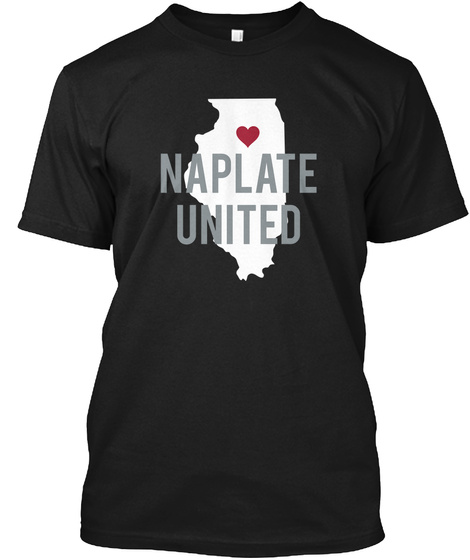 Naplate United Black T-Shirt Front