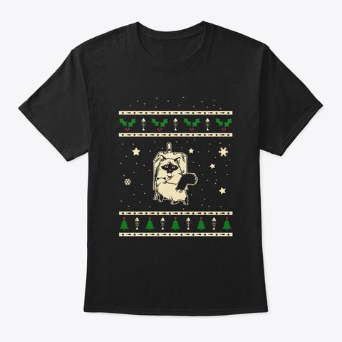 Christmas Birman Gift Black T-Shirt Front