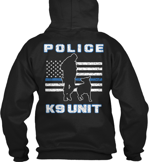 Police Ks Unit Black T-Shirt Back