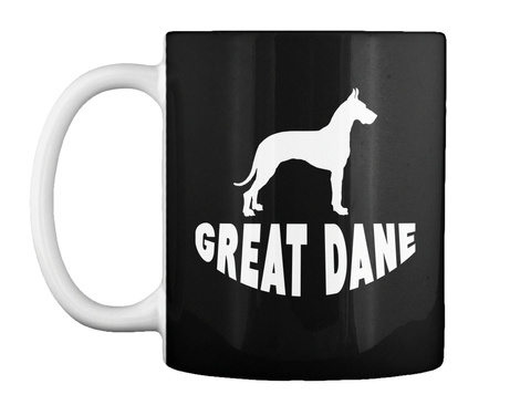 Great Dane Silhouette Mug Black T-Shirt Front