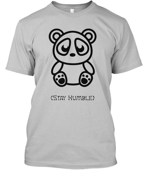 (Stay Humble) Sport Grey T-Shirt Front