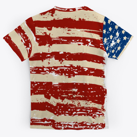 All Over Print Design American Eagle Standard T-Shirt Back