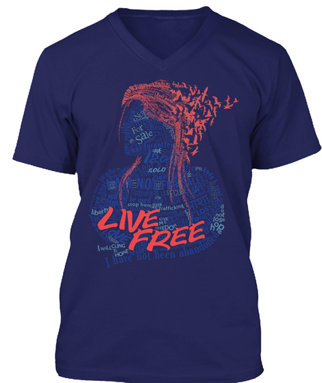 Live Free For Sale Sold Hope I Will Cleaning Navy T-Shirt Front